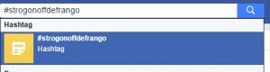 Busca de Hashtags - Facebook